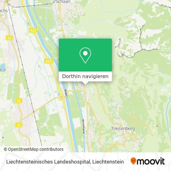 Liechtensteinisches Landeshospital Karte