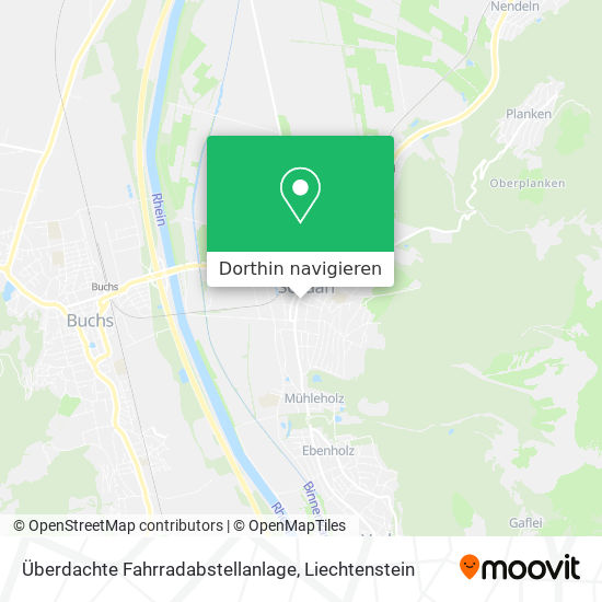 Überdachte Fahrradabstellanlage Karte