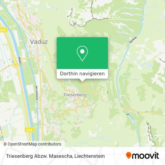 Triesenberg Abzw. Masescha Karte