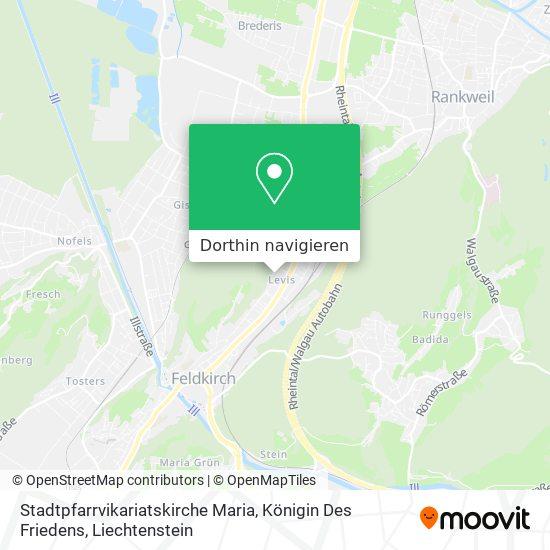 Stadtpfarrvikariatskirche Maria, Königin Des Friedens Karte