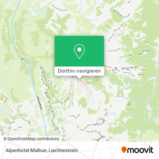 Alpenhotel Malbun Karte