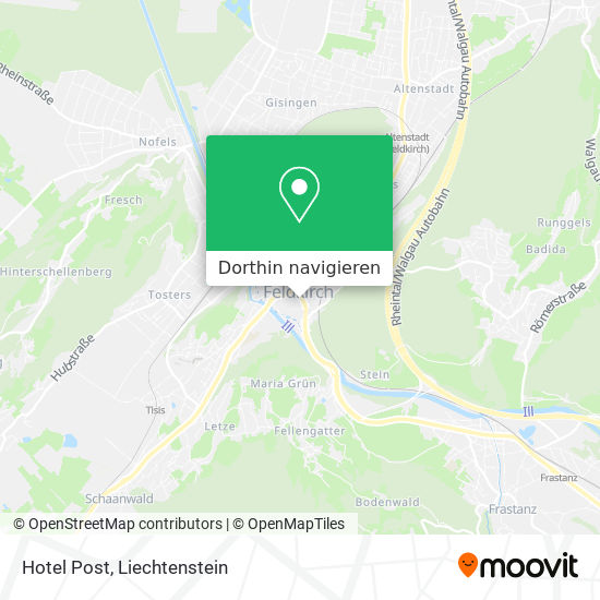 Hotel Post Karte