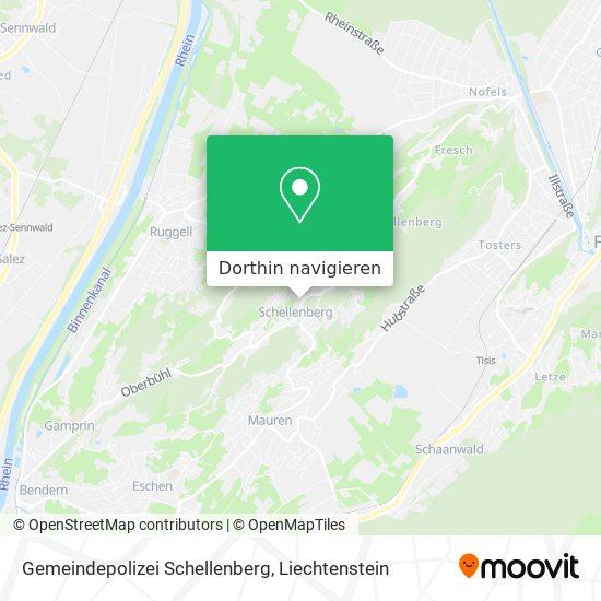 Gemeindepolizei Schellenberg Karte