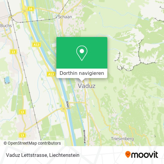 Vaduz Lettstrasse Karte