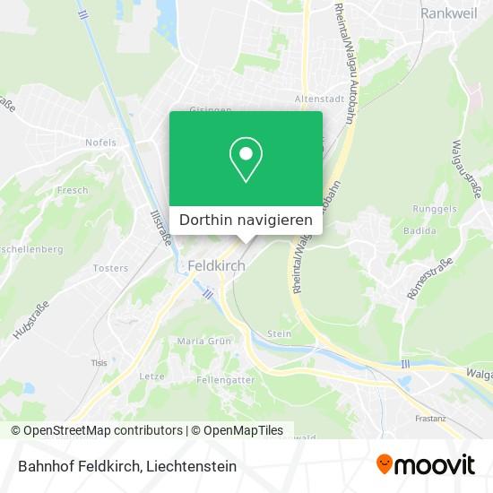 Bahnhof Feldkirch Karte