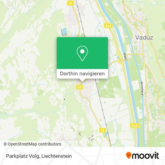 Parkplatz Volg Karte