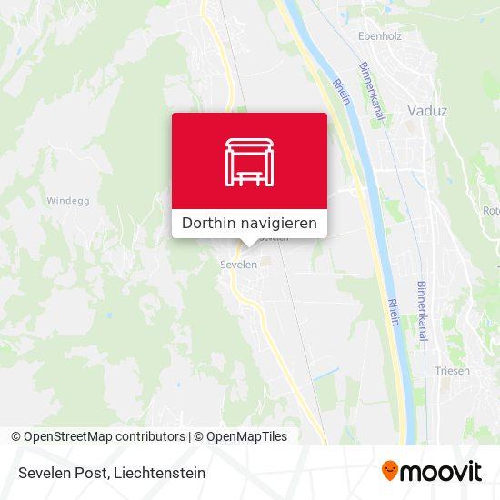 Sevelen Post Karte