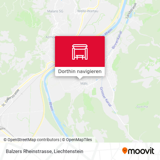 Balzers Rheinstrasse Karte