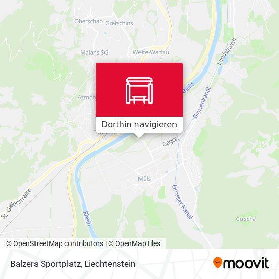 Balzers Sportplatz Karte