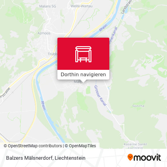 Balzers Mälsnerdorf Karte