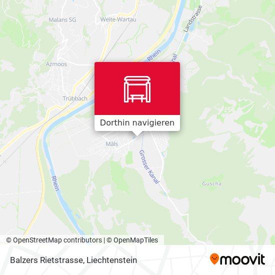 Balzers Rietstrasse Karte