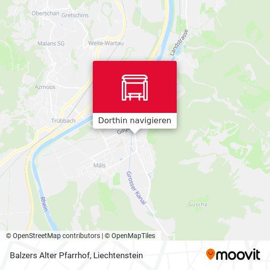Balzers Alter Pfarrhof Karte