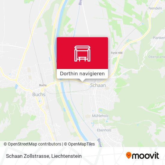 Schaan Zollstrasse Karte