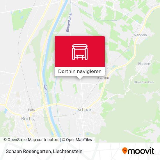 Schaan Rosengarten Karte