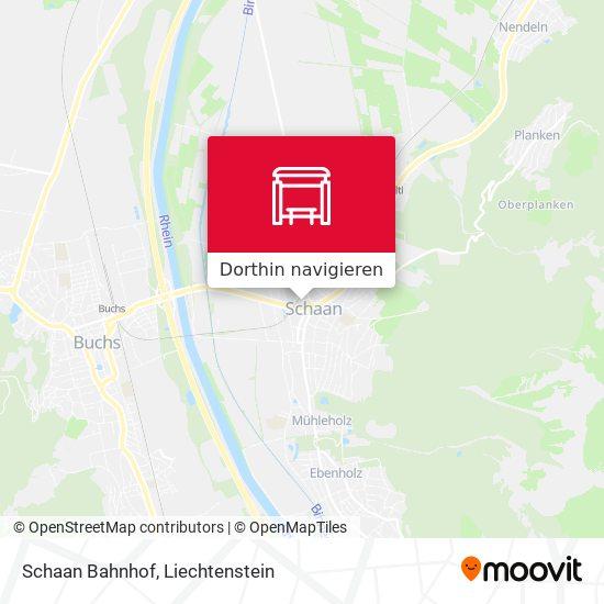 Schaan Bahnhof Karte