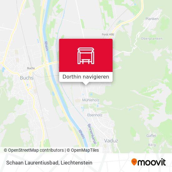 Schaan Laurentiusbad Karte