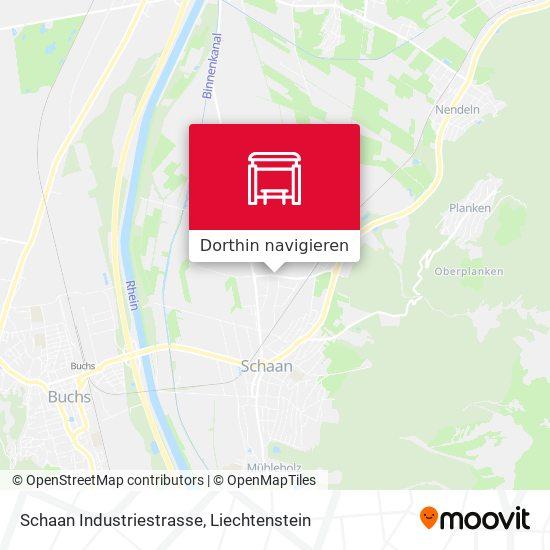Schaan Industriestrasse Karte