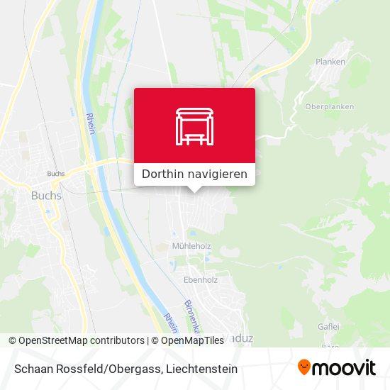 Schaan Rossfeld/Obergass Karte