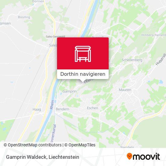 Gamprin Waldeck Karte