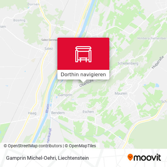 Gamprin Michel-Oehri Karte