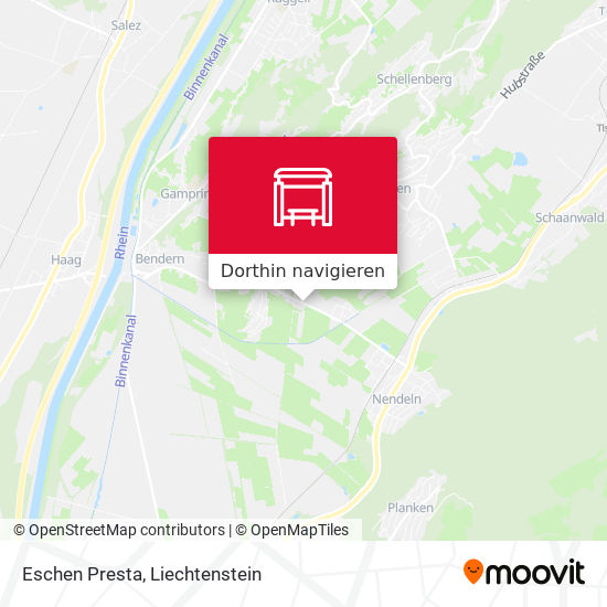 Eschen Presta Karte