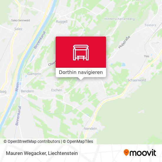 Mauren Wegacker Karte