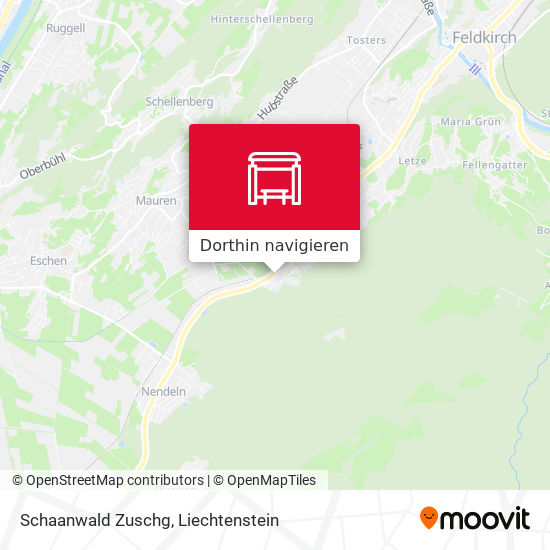 Schaanwald Zuschg Karte
