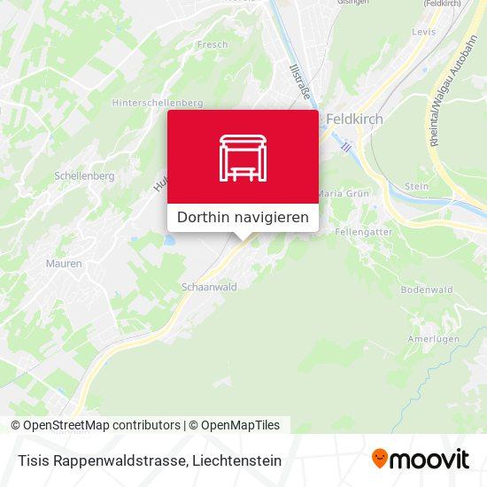 Tisis Rappenwaldstrasse Karte