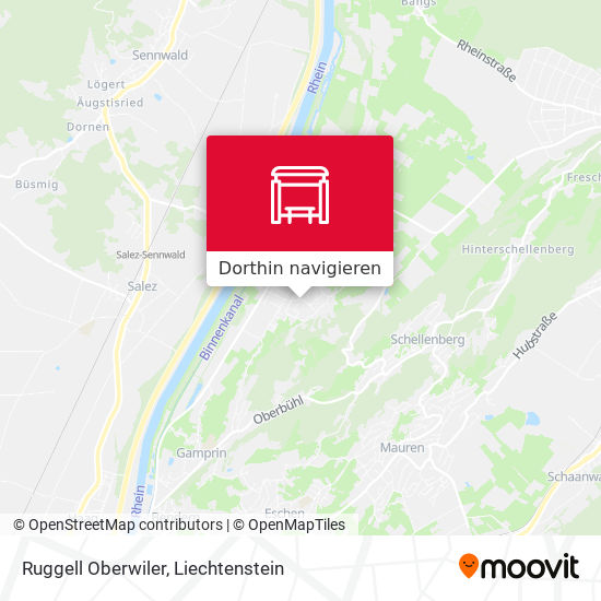 Ruggell Oberwiler Karte