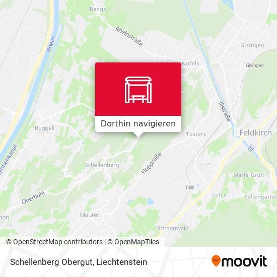 Schellenberg Obergut Karte