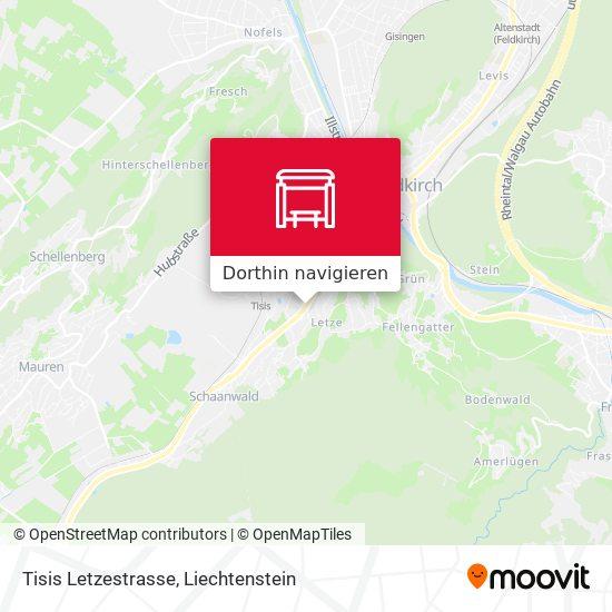 Tisis Letzestrasse Karte