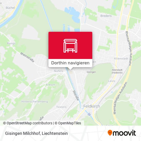 Gisingen Milchhof Karte