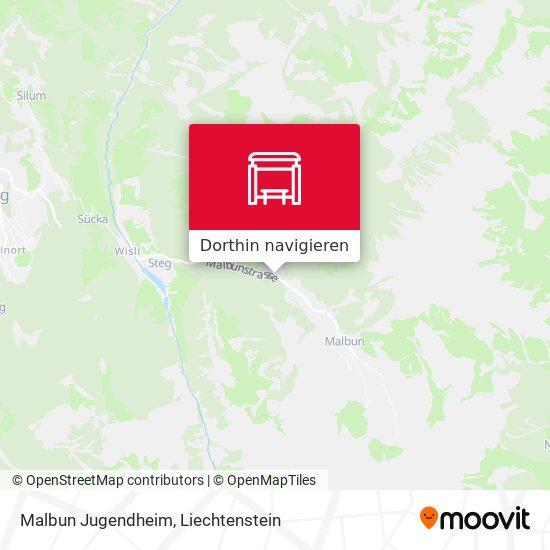 Malbun Jugendheim Karte