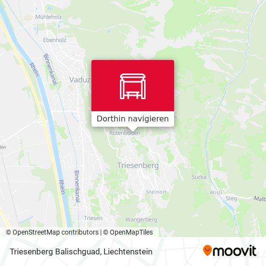 Triesenberg Balischguad Karte