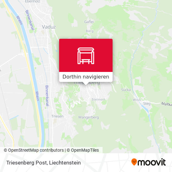 Triesenberg Post Karte