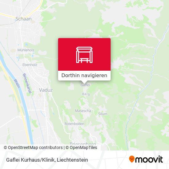 Gaflei Kurhaus/Klinik Karte