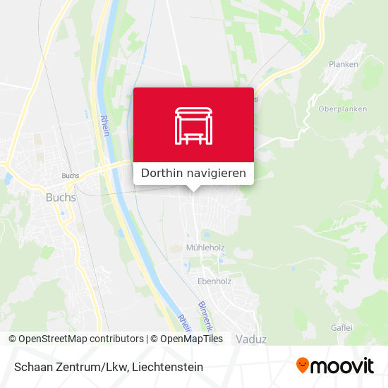 Schaan Zentrum/Lkw Karte