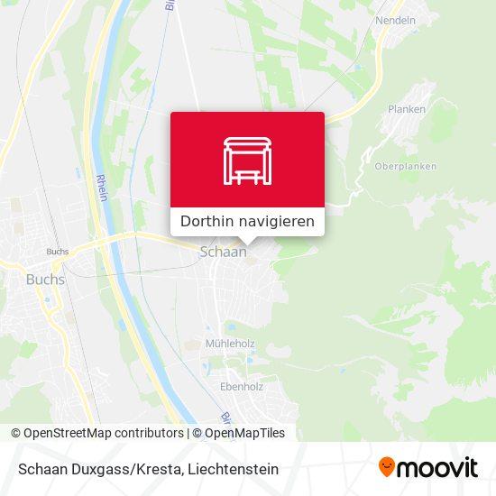 Schaan Duxgass/Kresta Karte