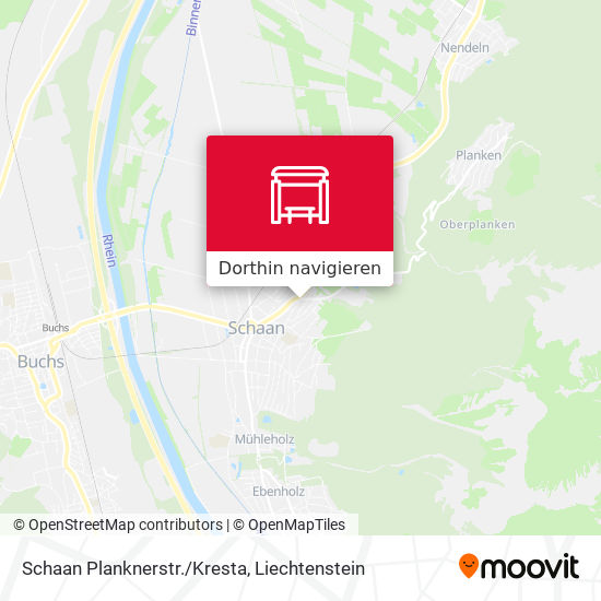 Schaan Planknerstr./Kresta Karte
