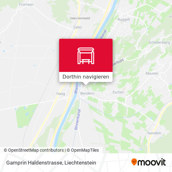 Gamprin Haldenstrasse Karte