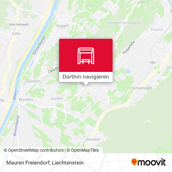 Mauren Freiendorf Karte