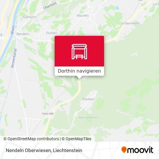 Nendeln Oberwiesen Karte