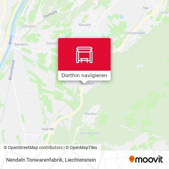 Nendeln Tonwarenfabrik Karte