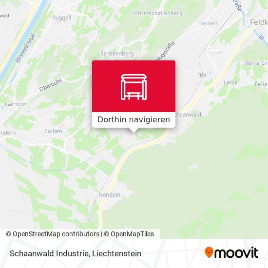 Schaanwald Industrie Karte