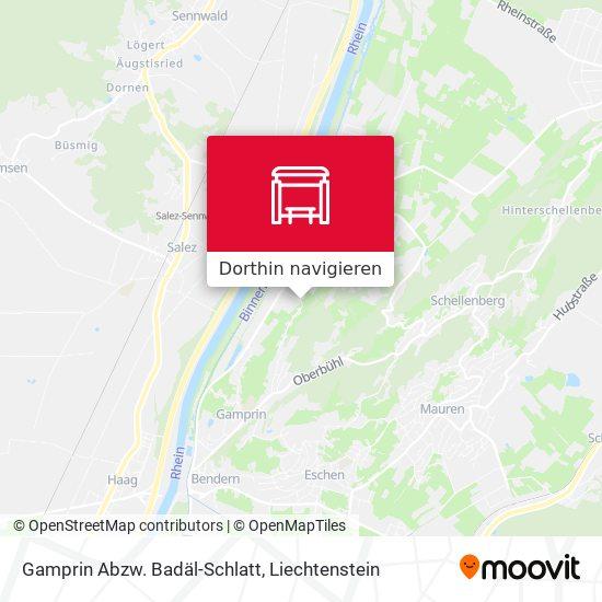 Gamprin Abzw. Badäl-Schlatt Karte