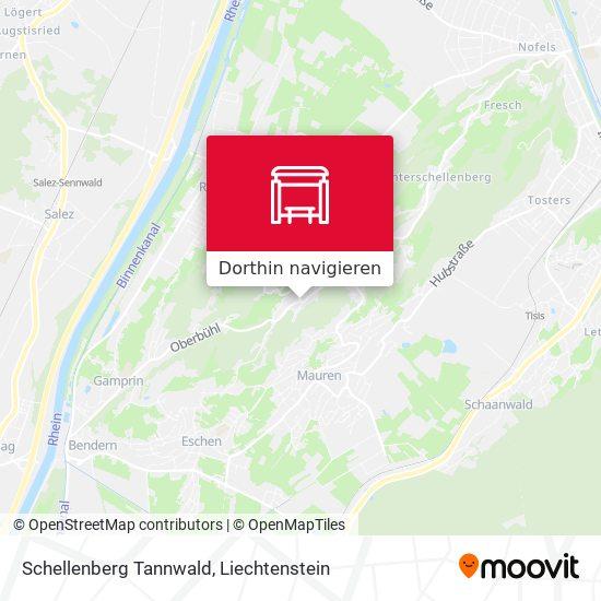 Schellenberg Tannwald Karte