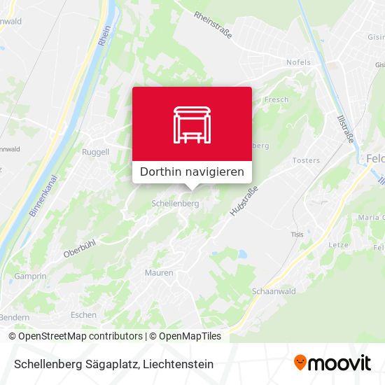 Schellenberg Sägaplatz Karte