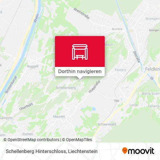 Schellenberg Hinterschloss Karte