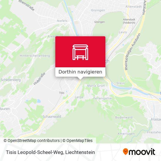 Tisis Leopold-Scheel-Weg Karte