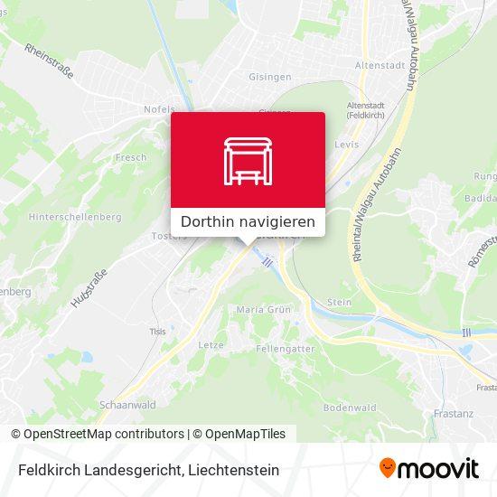 Feldkirch Landesgericht Karte